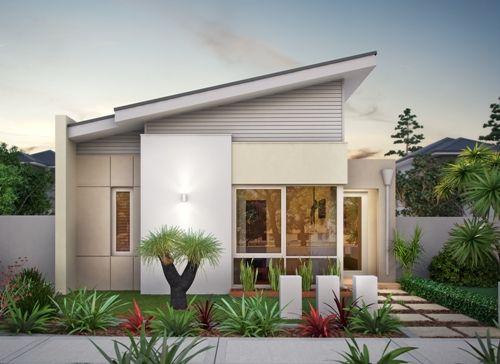 rumah diagonal flat roof