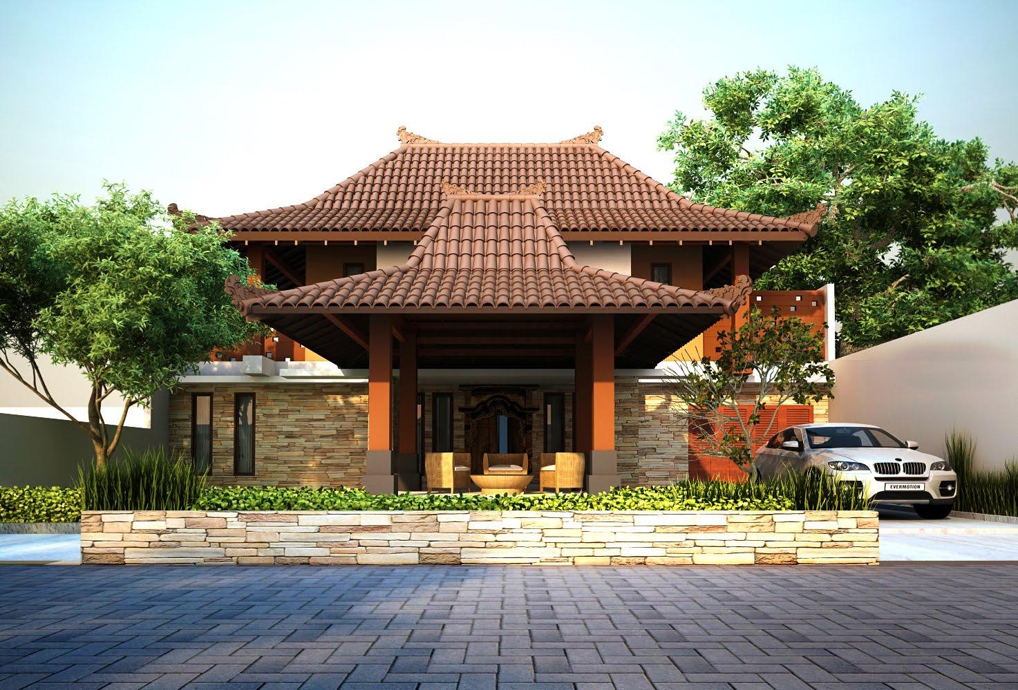 550+ Contoh Gambar Rumah Joglo Minimalis Gratis