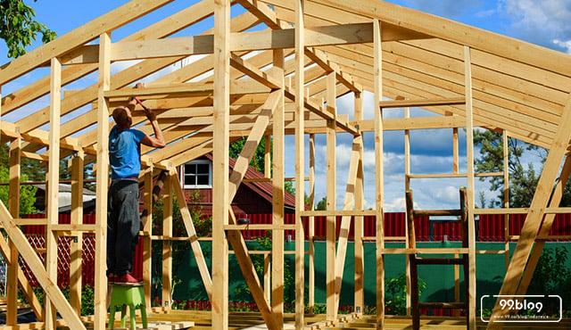 rumah kayu knockdown