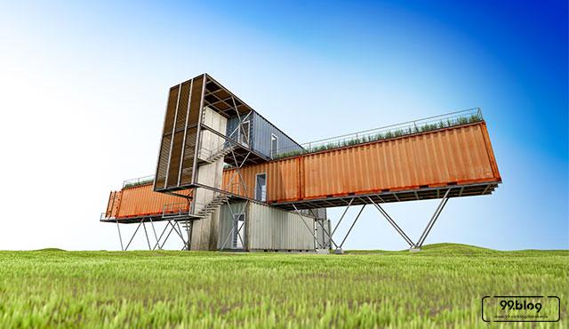 rumah kontainer unik