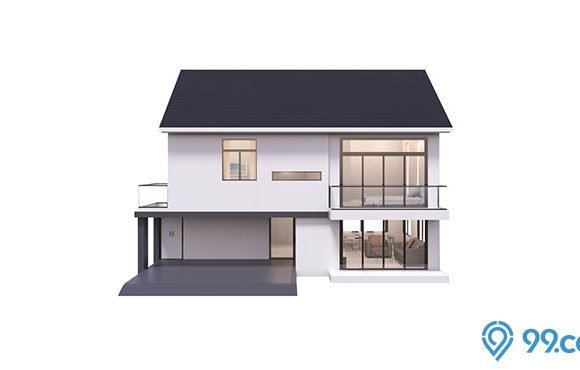 rumah minimalis 2 lantai sederhana