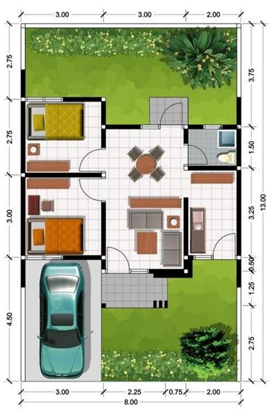 Ukuran Rumah Minimalis Type 45 Terbaik Dilengkapi Denah Ruangan