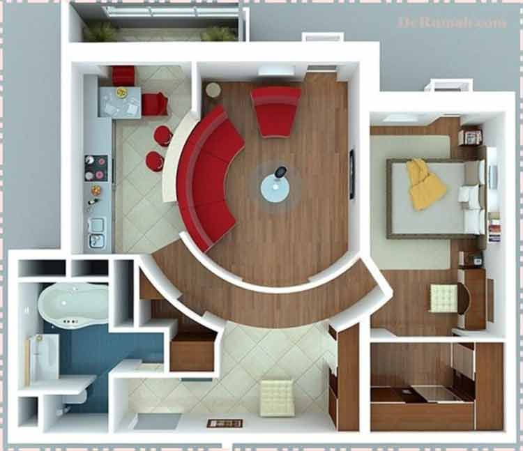 rumah minimalis ukuran 45