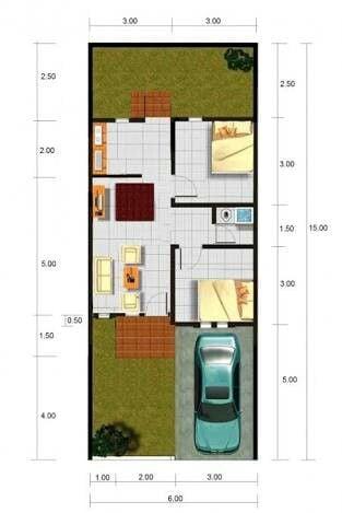 ukuran rumah minimalis type 45 terbaik, dilengkapi denah