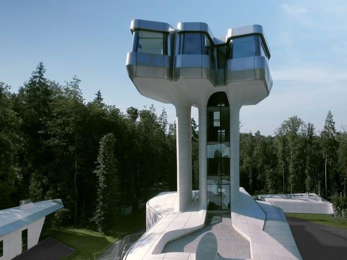 rumah unik pesawat luar angkasa