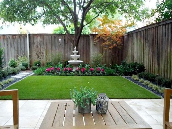 rumput halaman belakang rumah