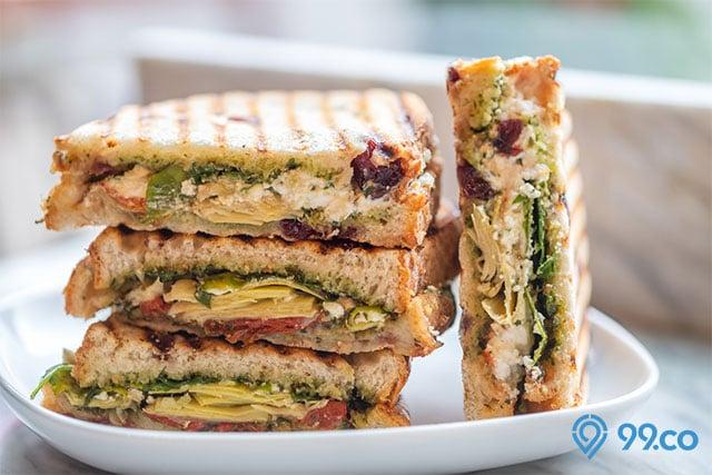 menu makanan sehat sandwich