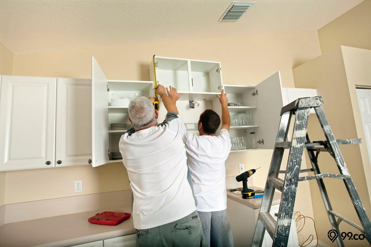 Cara Memasang Kitchen Set Di Dinding Dapur Bisa Dikerjakan Sendiri