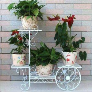 8 model rak bunga besi untuk dekorasi interior & eksterior