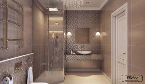shower kamar mandi di pojok ruangan