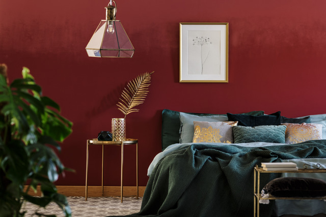 warna car kamar tidur earthy colour