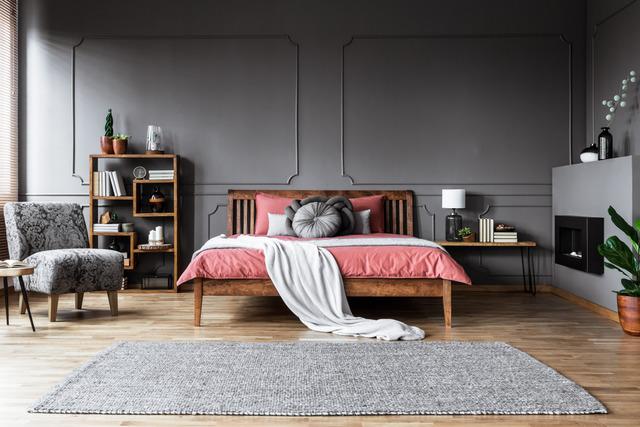 kamar tidur gaya tradisional kontemporer