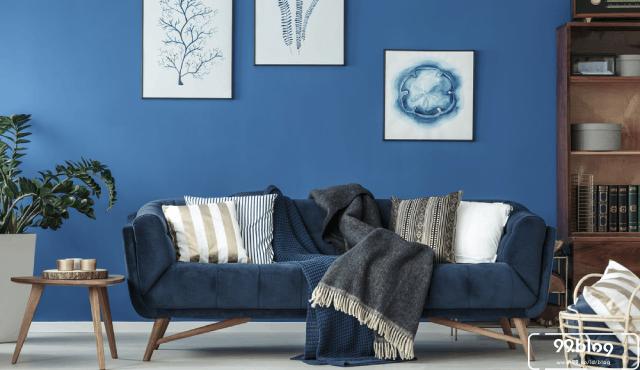 dekorasi warna biru