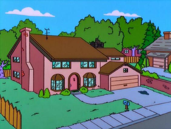 gambar rumah kartun the simpsons