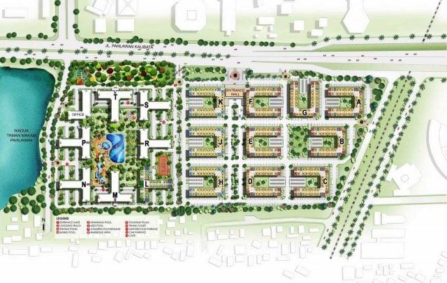 site plan apartemen kalibata city
