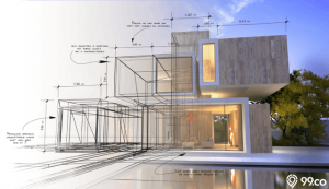 sketsa rumah minimalis terbaik