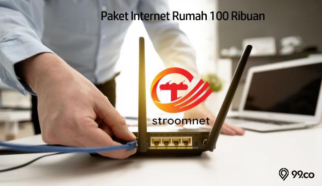 Paket Internet Rumah 100 Ribuan dari Stroomnet, Anak Perusahaan PLN! | Unlimited Tanpa Batas Kuota