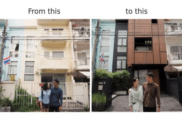 renovasi rumah pasangan asal thailand