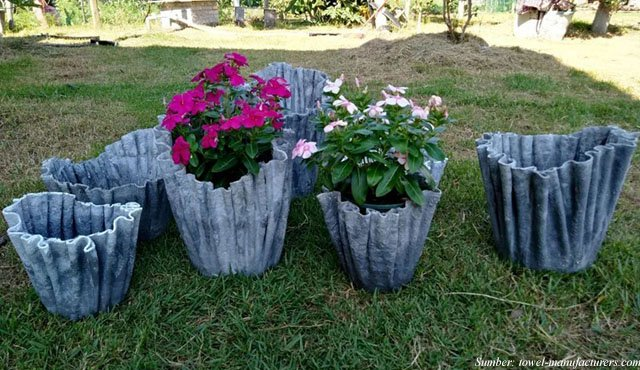 5 Cara Membuat Pot Bunga Sederhana Dari Handuk Bekas