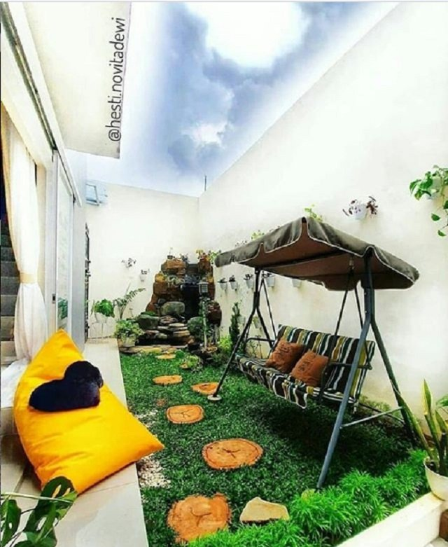 20 Inspirasi Desain Taman Minimalis Belakang Rumah Nyaman Asri