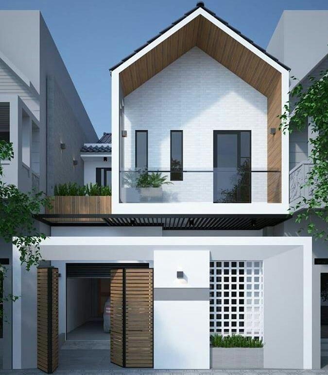 11 Inspirasi Tampak Depan Rumah Minimalis 1 2 Lantai Terkini