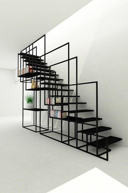 desain tangga besi minimalis