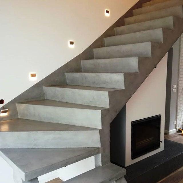 tangga beton polos