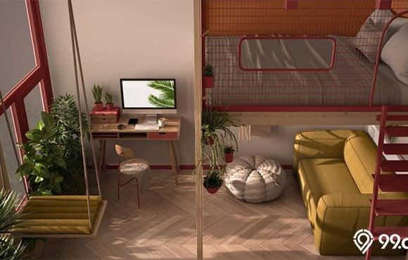 tempat tidur mezzanine