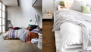 tempat tidur kayu palet