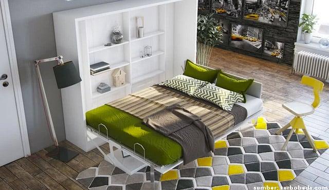 tempat tidur lipat dinding
