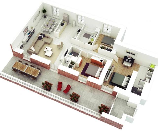 15 Gambar Denah Rumah Type 45 Inspirasi Tahun 2021