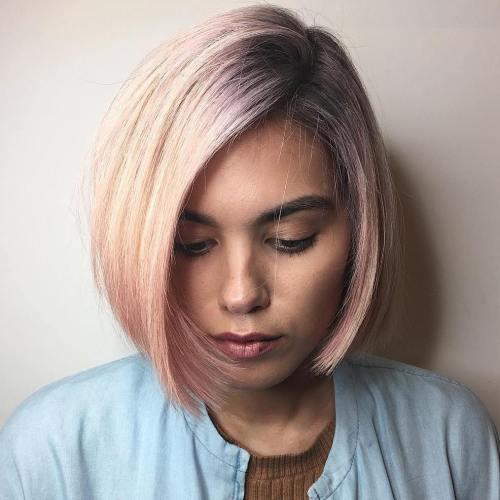 model rambut classic bob belah pinggir