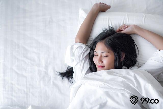 tidur posisi lengan ke atas