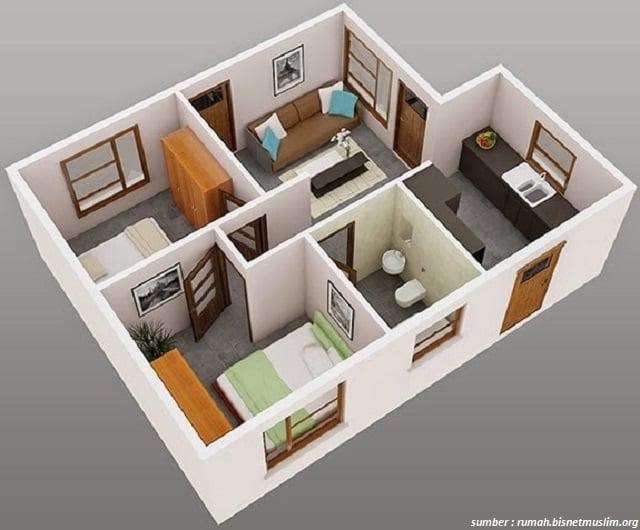 Contoh Desain Tipe Rumah Minimalis Type 21 Sampai 70 Tahun 2021