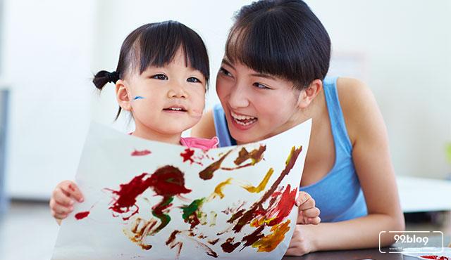 tips mengajari anak melukis