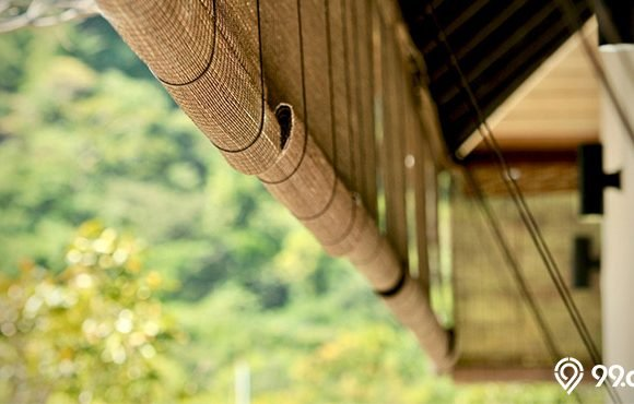 tirai bambu rumah
