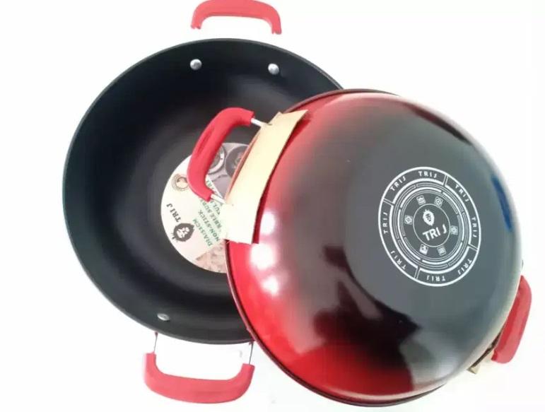 Harga Wajan Enamel Merah Tri J 36 cm