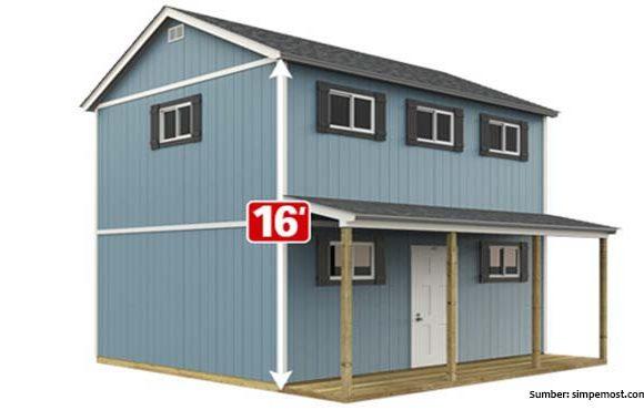 rumah kecil tuff shed home