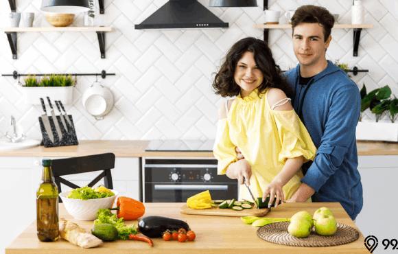 ukuran kitchen set ideal