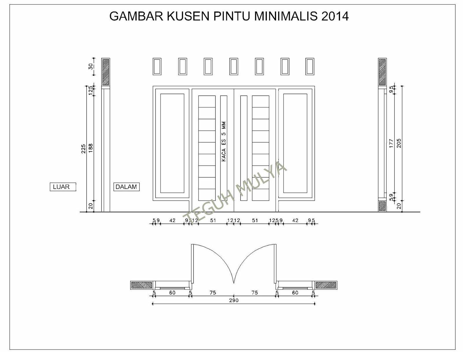 Standar Ukuran Pintu Rumah Dua Pintu Dan Satu Pintu Yang Ideal Ukuran pintu kupu tarung minimalis