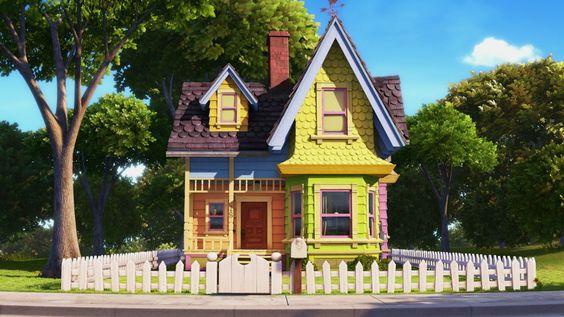 gambar rumah kartun animasi film up