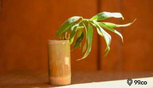 cara membuat vas bunga dari bambu