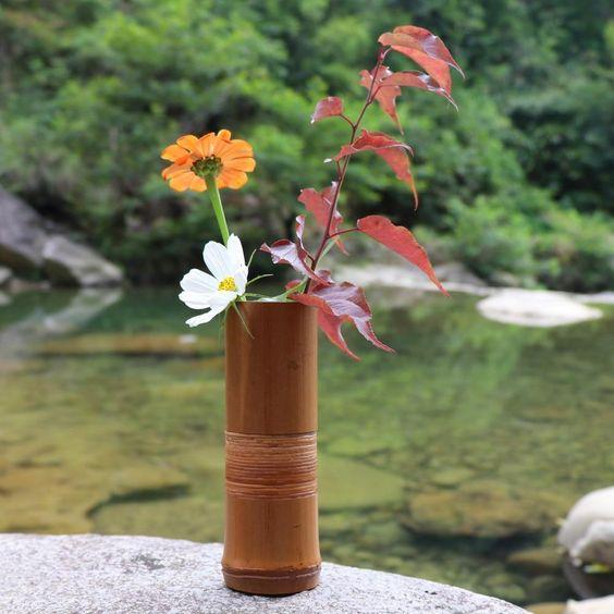 vas bambu sederhana nan indah