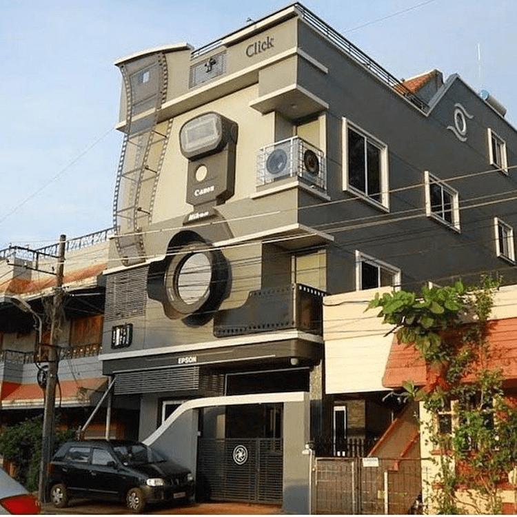 rumah unik di india
