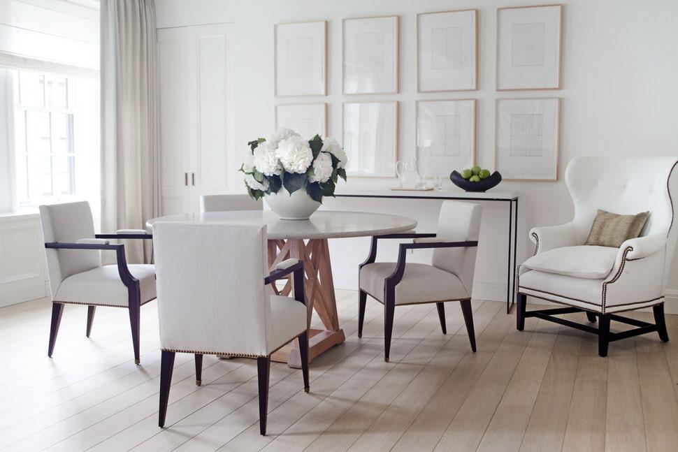desain ruang makan minimalis karya Victoria Hagan