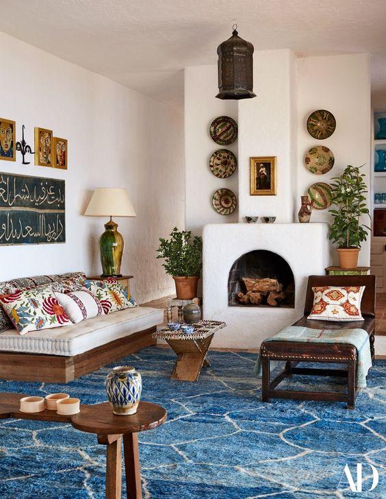 inspirasi dekorasi dinding Maroko