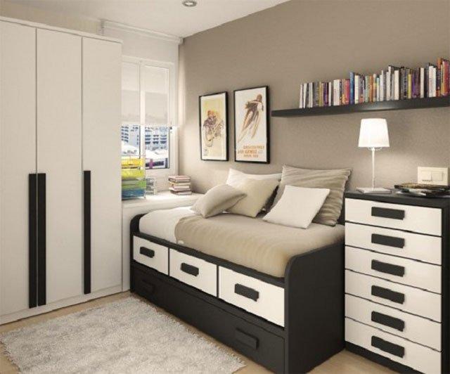 warna krem untuk kamar tidur sempit