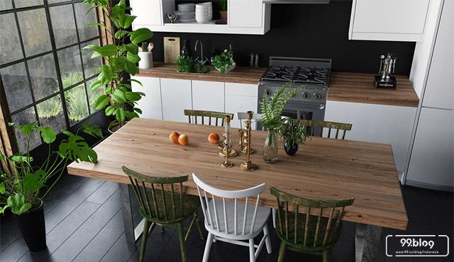 warna dapur hitam
