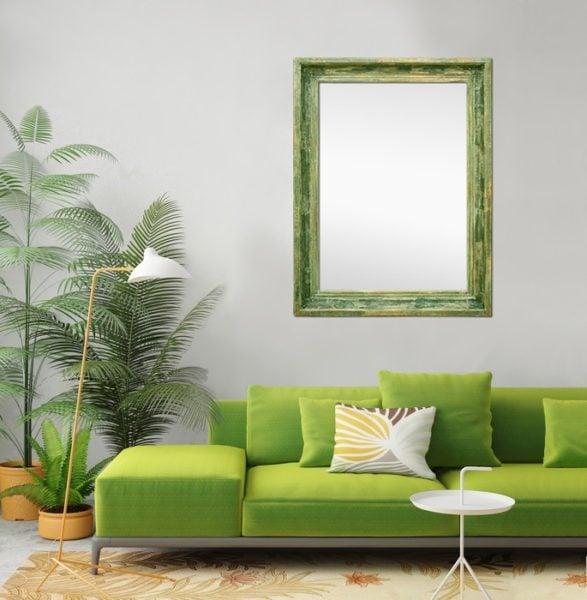 warna vintage hijau daun