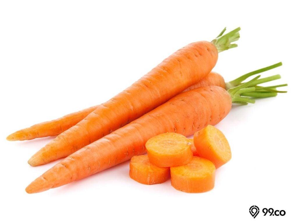 wortel merah obat diare alami